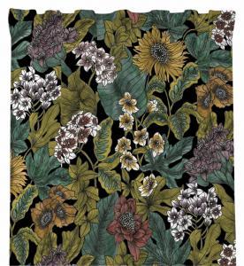 Gardinlängd BELINDA, blommor & blad, multi