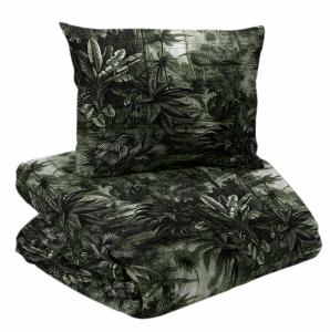 Bäddset 2-dels JANGALA, palmer, grön