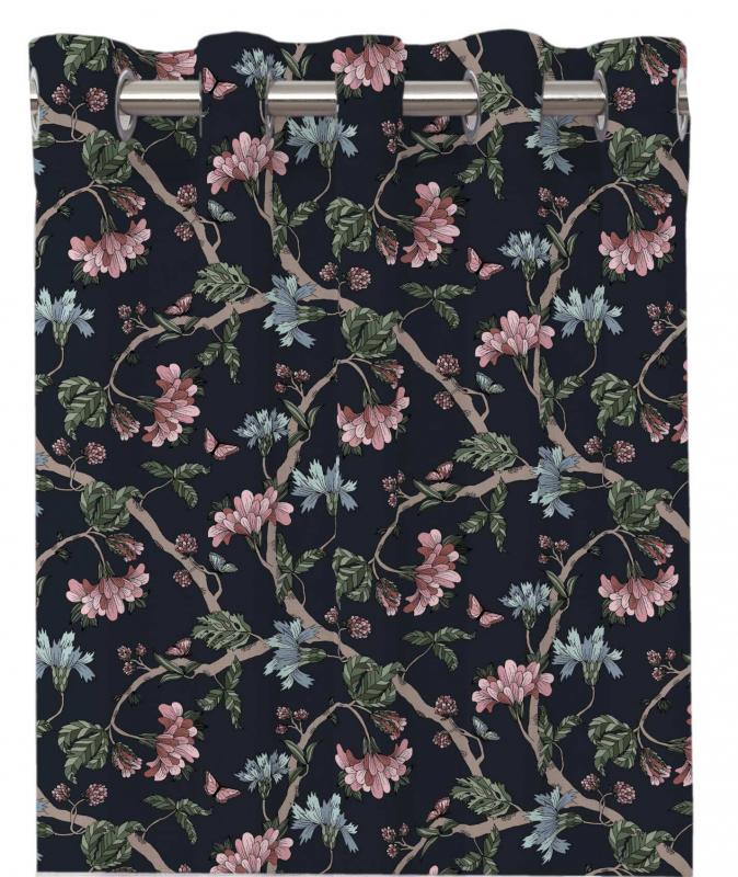 Gardinlängd FELICIA, blommande kvistar, marin