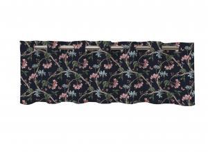 Gardinkappa FELICIA, blommande kvistar, marin