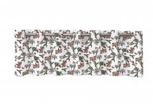 Gardinkappa FELICIA, blommande kvistar, vit/rostrosa