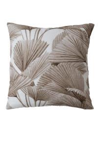 Kudde BRENDAN, palmblad, beige