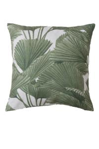 Kudde BRENDAN, palmblad, grön
