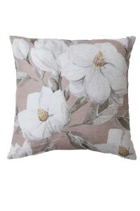 Kudde, MARIGOLD, vita blommor, rosa