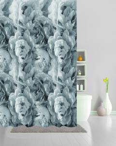 Duschdraperi PION, pionhav, grå