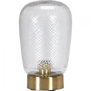 Lampfot/Bordslampa, JULIETTE, klar/mässing.