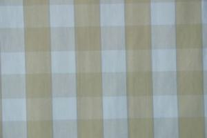 Gripsholmsruta på metervara i bomull, gul/vit