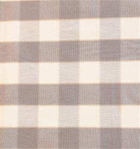 Gripsholmsruta på metervara i bomull, grå/vit