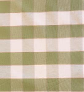 Gripsholmsruta på metervara i bomull, grön/vit