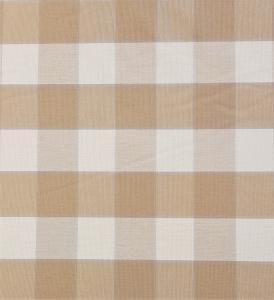 Gripsholmsruta på metervara i bomull, beige/vit