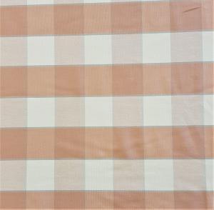 Gripsholmsruta på metervara i bomull, rosa/vit