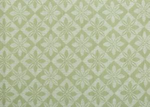 Vävd metervara i bolstermönster/madrasstyg, grön