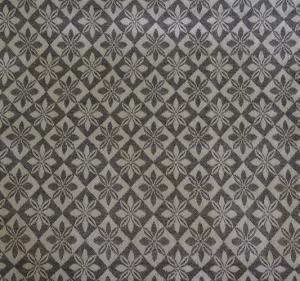 Vävd metervara i bolstermönster/madrasstyg, svart med beige varp