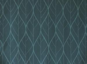 Panelgardin i 2-pack med bladmönster, turkos