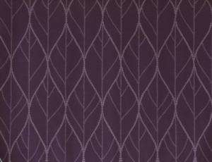 Panelgardin i 2-pack med bladmönster, lila