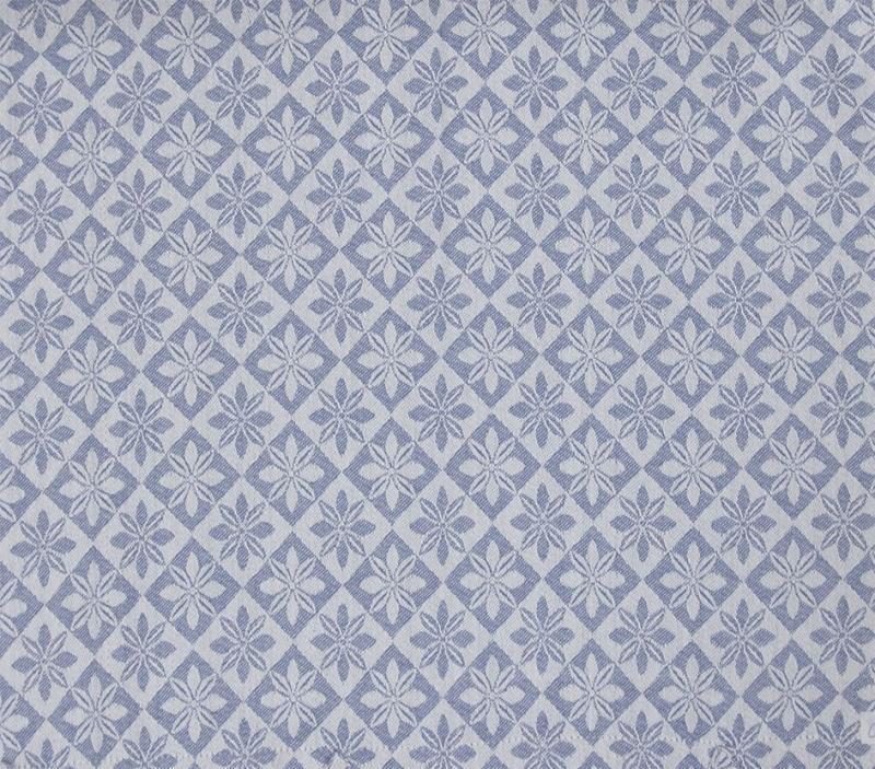 Vävd metervara i bolstermönster/madrasstyg, blå