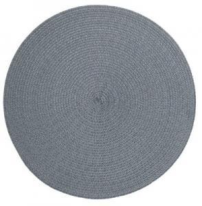Rund enfärgad bordstablett, gråblå
