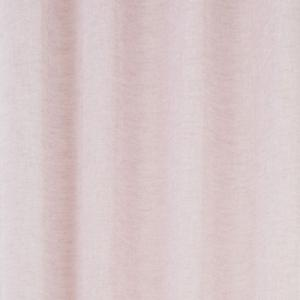 Enfärgad färdigsydd öljettkappa i tunt melerat tyg, rosa