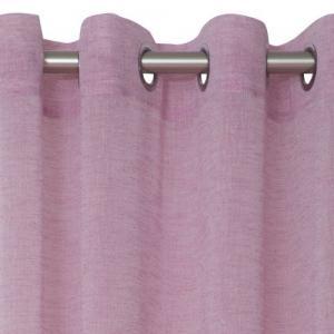 Enfärgad färdigsydd öljettkappa i tunt melerat tyg, finns i 8 olika färger, antikvit, beige, blå, svart, ljusrosa och turkos.