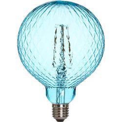 Lampa ELEGANCE CRISTAL LED, E27, Glob 125mm färgad turkos, 2200K