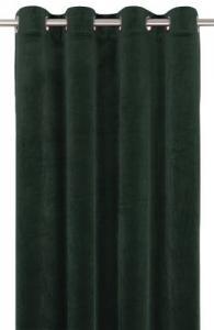Gardinlängd extra långa, sammet, mörkgrön