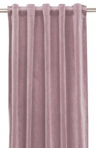 Gardinlängd extra långa, sammet, rosa