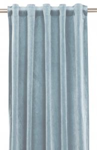Gardinlängd extra långa, sammet, ljusblå
