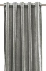 Gardinlängd extra långa, sammet, grå