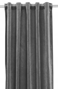 Gardinlängd extra långa, sammet, mörkgrå