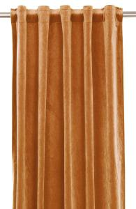 Gardinlängd extra långa, sammet, orange