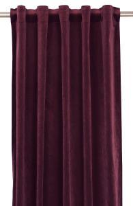 Gardinlängd extra långa, sammet, vinröd