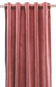 Gardinlängd extra långa, sammet, laxrosa