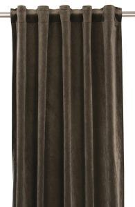Gardinlängd extra långa, sammet, brun