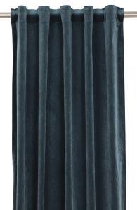 Gardinlängd extra långa, sammet, turkos