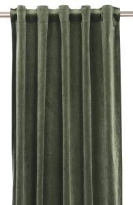 Gardinlängd extra långa, sammet, grön
