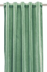 Gardinlängd extra långa, sammet, aquagrön