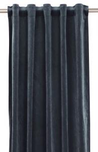 Gardinlängd extra långa, sammet, mörkblå