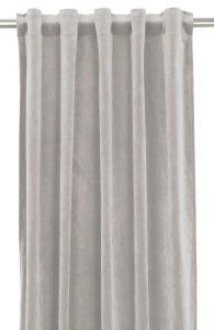 Gardinlängd extra långa, sammet, silvergrå