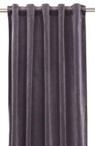 Gardinlängd extra långa, sammet, grå/lila