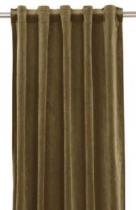 Gardinlängd extra långa, sammet, guldbrun