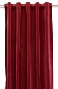 Gardinlängd extra långa, sammet, röd