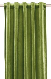 Gardinlängd extra långa, sammet, limegrön