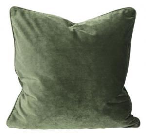 Kuddfodral i sammet, grön