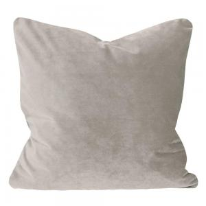 Kuddfodral Elise i sammet med passpoal, 60x60 cm, silvergrå