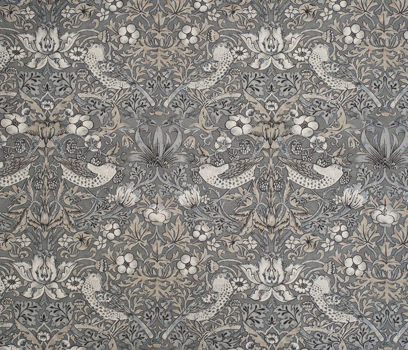 Gardinlängd William Morris, Vilja, grå