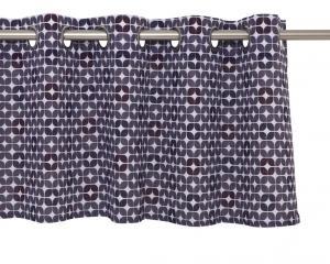 Färdigsydd öljettkappa med grafiskt designritat mönster av Björkfort, lila