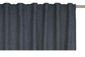 Gardinkappa, enfärgad, marinblå