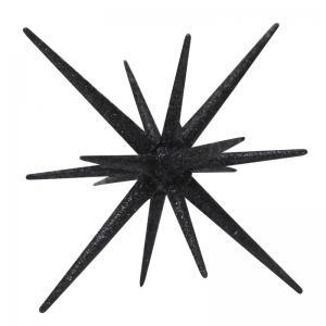 Glittrande stjärna Sputnik svart liten