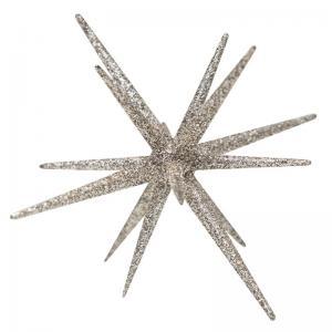 Glittrande stjärna Sputnik silver liten