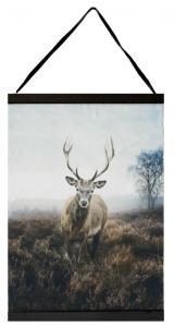 Textiltavlan King med en hjort i två olika storlekar